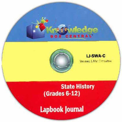 Alabama State History Lapbook Journal PDF CDROM  -     By: Cyndi Kinney