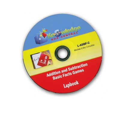Addition & Subtraction Basic Facts Games Lapbook CDROM  -     By: Cyndi Kinney