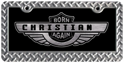 Born Again Christian License Plate  -