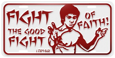 Good Fight License Plate  -