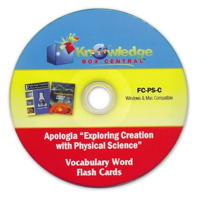 Apologia Exploring Creation With Physical Science (1st & 2nd Editions) Vocabulary Word Flash Cards PDF CDROM  -     By: Cyndi Kinney, Shelby Kinney