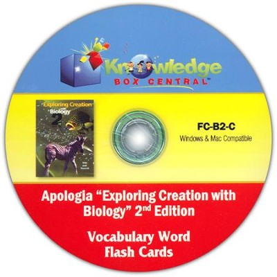 Apologia Exploring Creation With Biology 2nd Edition Vocabulary Word Flash Cards PDF CD-ROM  -     By: Cyndi Kinney, Judy Trout