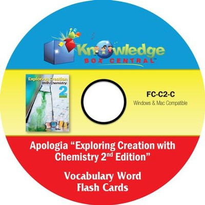 Apologia Exploring Creation With Chemistry (2nd Edition) Vocabulary Word Flash Cards PDF CD-ROM  -     By: Cyndi Kinney, Judy Trout