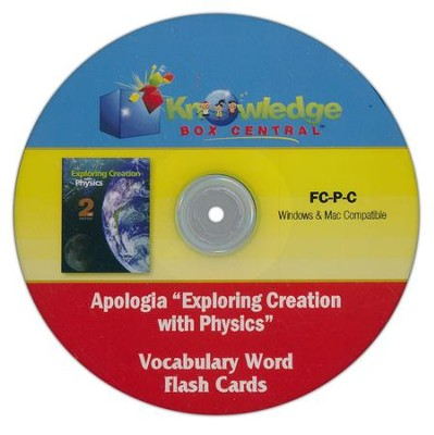 Apologia Exploring Creation With Physics Vocabulary Word Flash Cards PDF CD-ROM  -     By: Cyndi Kinney, Judy Trout