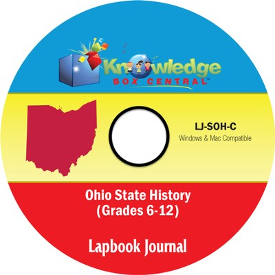 Ohio State History Lapbook Journal PDF CDROM  -     By: Cyndi Kinney