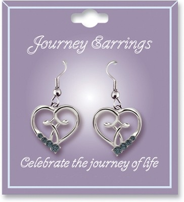 Journey Birthstone Earrings, March  -