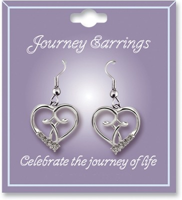 Journey Birthstone Earrings, April  -