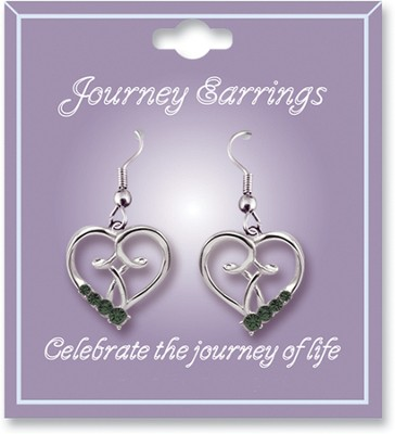 Journey Birthstone Earrings, May  -