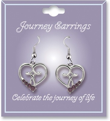 Journey Birthstone Earrings, June  -