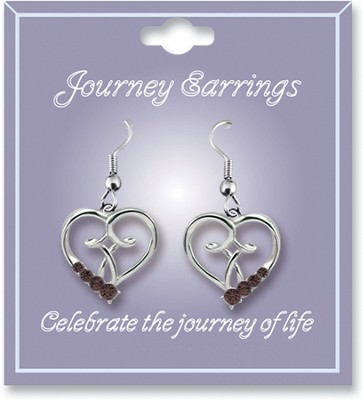Journey Birthstone Earrings, July  -