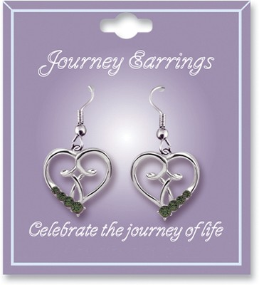 Journey Birthstone Earrings, August  -