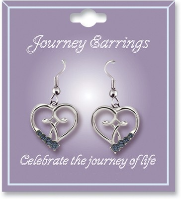 Journey Birthstone Earrings, September  -