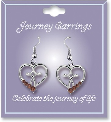 Journey Birthstone Earrings, November  -