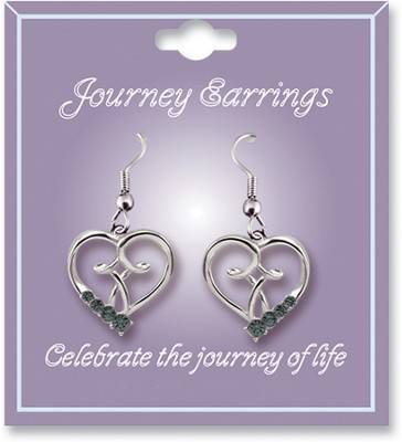 Journey Birthstone Earrings, December  -
