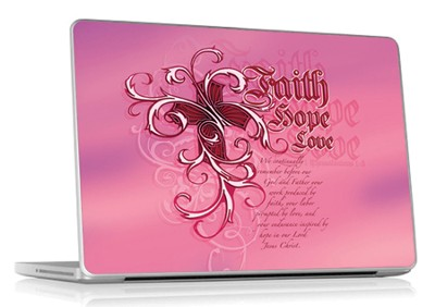 Faith, Hope, Love Laptop Skin  -