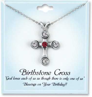 Cross Birthstone Pendant, July  -
