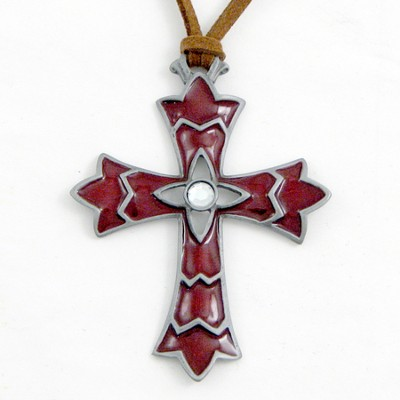 My Faith is Big and Bold Pendant, Red  -