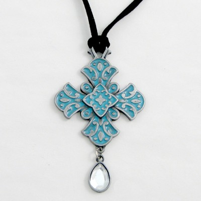 My Faith is Big and Bold Pendant, Teal  -