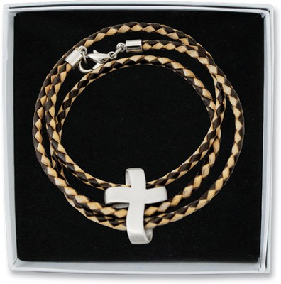 Wrap Bracelet with Cross Charm  -