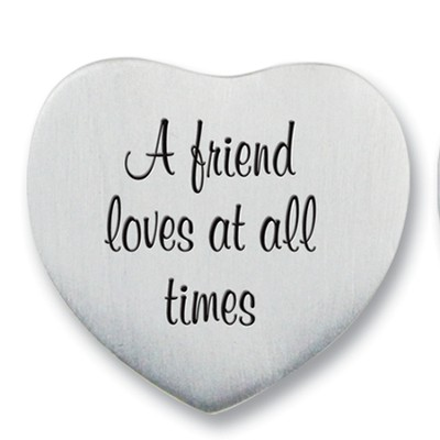 A Friend Loves at All Times Photo Pocket Token  -