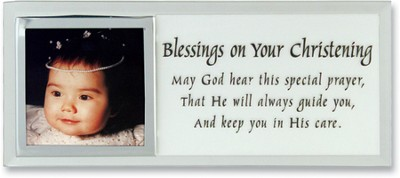 Blessing on Your Christening Photo Mirror Plaque  -