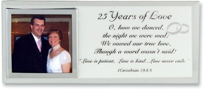 25 Years of Love Photo Mirror Plaque  -