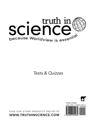 Truth in Science Grade 6 Tests & Quizzes  -
