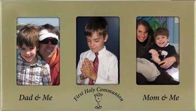 First Communion Photo Frame with Parents  -