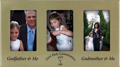 First Communion Photo Frame with Godparents  -