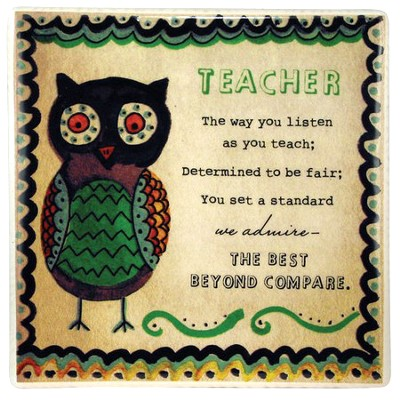 Teacher Ceramic Tile  -