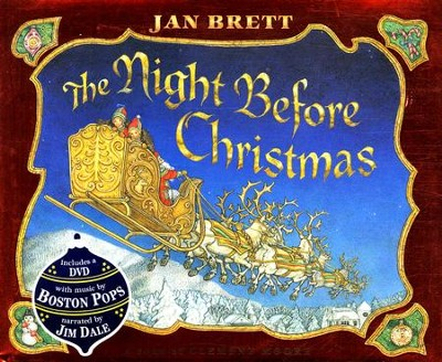 The Night Before Christmas--Book and DVD     -     By: Jan Brett