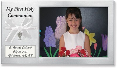 First Communion Photo Frame to Personalize  -