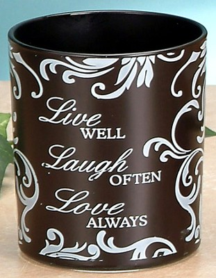 Live, Laugh, Love Votive Holder, Black  -
