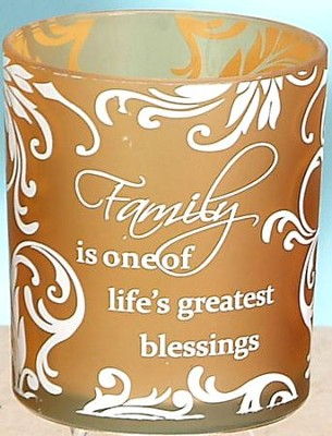 Family is One of the Greatest Blessings Votive Holder, Gold  -