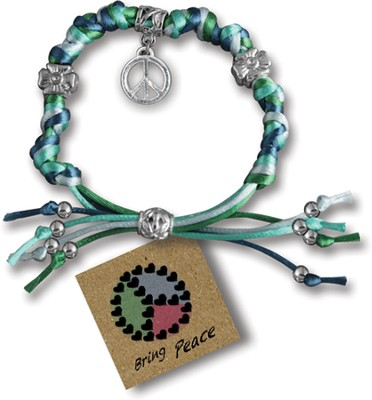 Bring Peace, Express Yourself Cord Bracelet  -