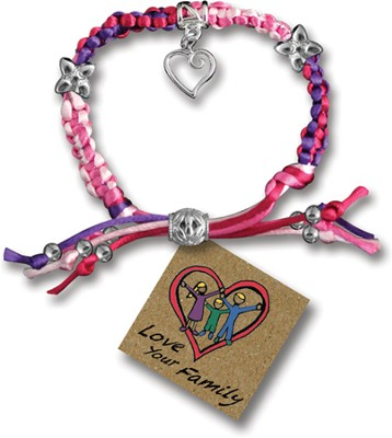 Love Your Family, Express Yourself Cord Bracelet  -