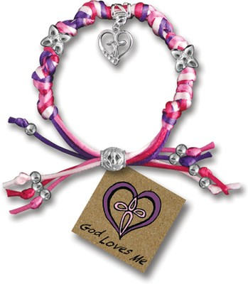 God Loves Me, Express Yourself Cord Bracelet  -