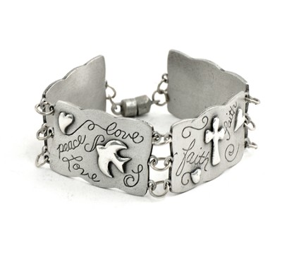 Love, Peace, Faith, Hope Bracelet  -