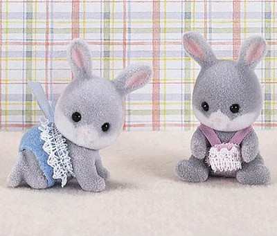 Calico Critters Cottontail Rabbit Twins   -