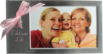Celebrate Life Photo Frame, Pink Ribbon  -