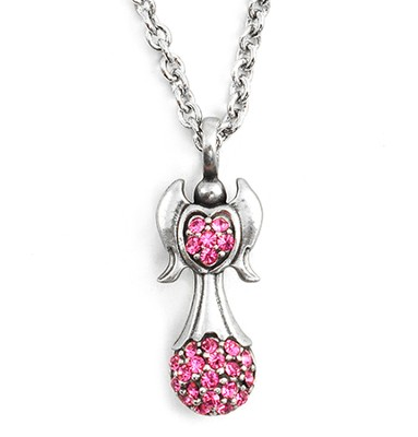 Celebrate Life Angel Pendant, Pink  -
