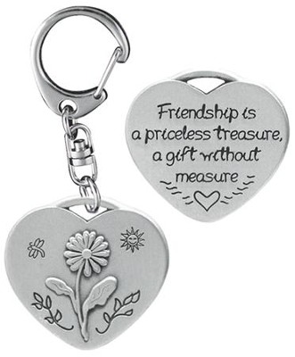 Friendship is a Priceless Treasure Keyring  -