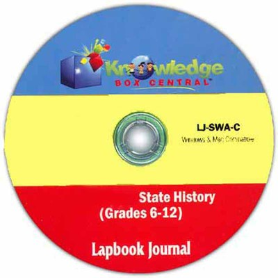 Iowa State History Lapbook Journal PDF CDROM  -     By: Cyndi Kinney
