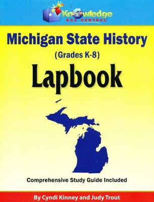 Michigan State History Lapbook (Printed)  -     By: Cyndi Kinney