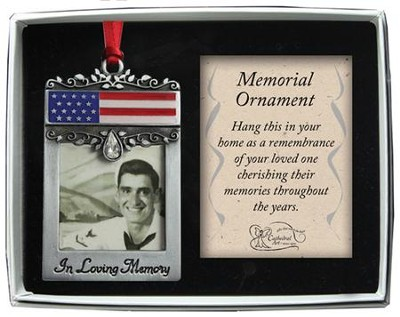 In Loving Memory Patriotic Ornament  -