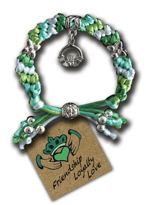 Love, Loyalty, Friendship Claddagh, Express Yourself Cord Bracelet  -