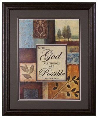 With God All Things Are Possible Framed Art  -