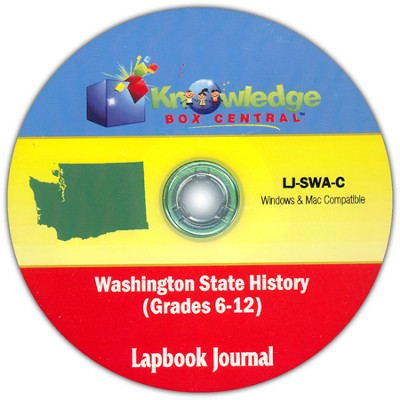 Washington State History Lapbook Journal PDF CDROM  -     By: Cyndi Kinney