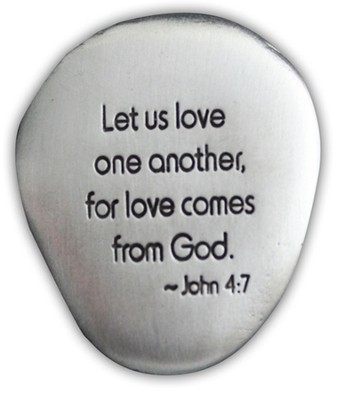 Love One Another Pocket Stone  -