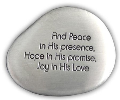Find Peace Pocket Stone  -